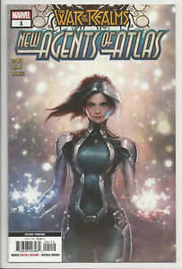 WAR OF THE REALMS NEW AGENTS ATLAS 1 JEEHYUNG LEE 2nd PRiNT VARIANT NM