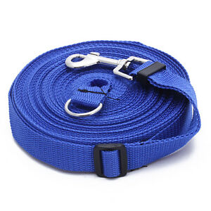 50ft-15m-Long-Pets-Dog-CAT-Puppy-Training-Obedience-Lead-Leash-Blue
