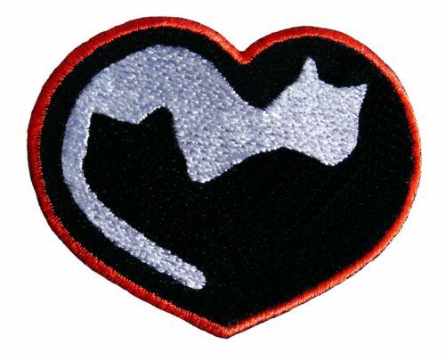 Amante de los gatos bordado parches de hierro en apliques Rock Chaqueta Insignia Cap Jeans