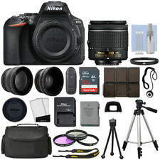 Nikon D5600 DSLR Camera+ 3 Lens: 18-55mm VR Lens+ 32GB Bundle- HOLIDAY DEAL SALE