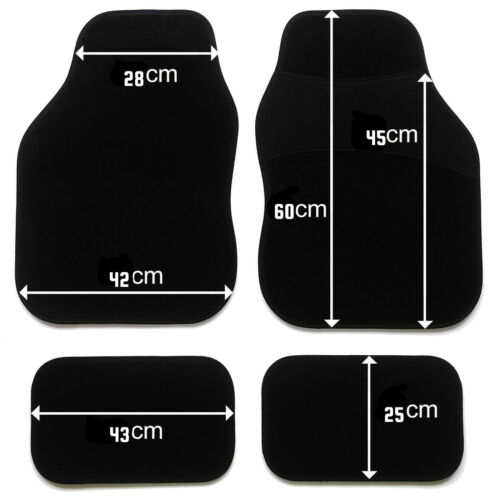 PERSONALISED car mats UNIVERSAL FIT  21st First car gift ANY TEXT EMBROIDERED