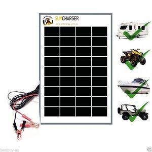 10W-12V-Portable-SOLAR-TRICKLE-BATTERY-CHARGER-car-RV-camp-marine-atv-AGM