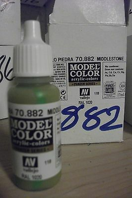 Modelo Pintura De La Manía 17ml Botella Val882 Av Vallejo Color Crafts Amarillo 100% Original