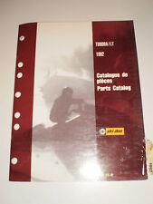 SKIDOO 1992 PARTS CATALOG  MANUAL TUNDRA / LT