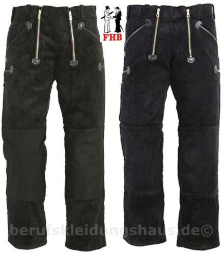 oder Cord-Knietasche ohne Schlag FHB 40086 88 Zunfthose Cord schwarz Cordura
