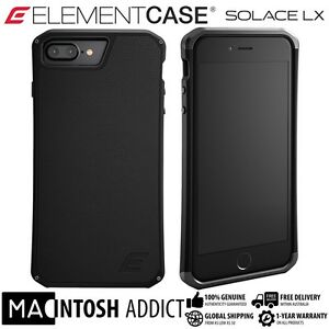 sale retailer 8be53 28e17 Details about Element Case SOLACE LX Genuine Leather Case For iPhone 8 PLUS  / 7 PLUS BLACK