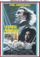 ITALIA MAXIMUM MAXI CARD STING BEALS LA SPOSA PROMESSA CINEMA 1988 SORRENTO B189