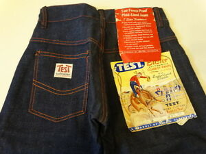 Vtg-50s-TEST-Buster-Cowboy-Indigo-Denim-Lined-Pant-Jeans-Kids-6-23x20-SANFORIZED