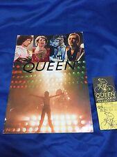 F/S Queen Japan tour 1979 tour book,ticket stub & flyer Frredie Mercury