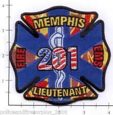 Tennessee - Memphis Fire Dept Lieutenant 201 TN Patch EMS