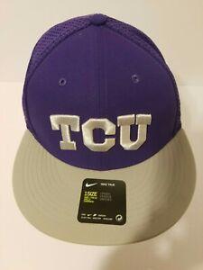 buy popular b0fef 6d1da Image is loading TCU-Horned-Frogs-Nike-Dri-Fit-Strapback-Baseball-