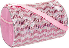03ea517571 item 3 NEW Girls Light Pink Silver Sequin Chevron Shoulder Duffle Duffel  Dance Gym Bag -NEW Girls Light Pink Silver Sequin Chevron Shoulder Duffle  Duffel ...