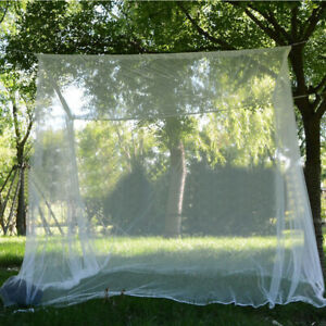 Outdoor-Mosquito-net-double-size-canopy-4post-bed-travel-holiday-accessories-GO9