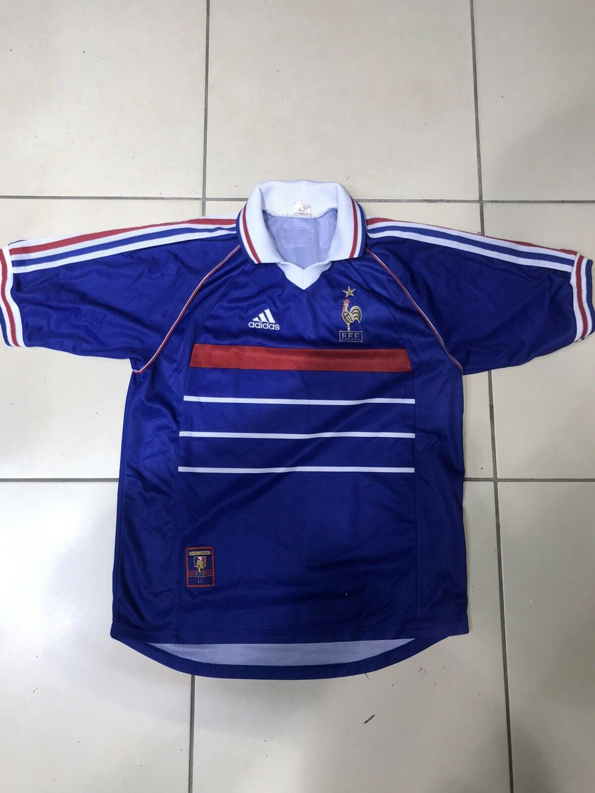 Maillot Foot Ancien Equipe De France 98 Dimensione L