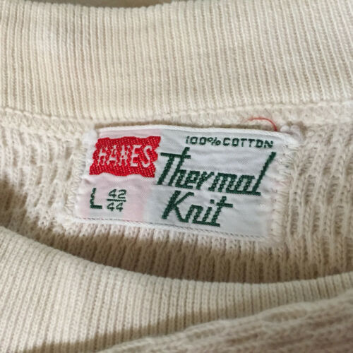 Vintage 50s 60s Hanes Thermal Knit Long John Under