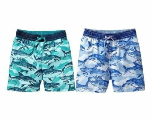 NWT Old Navy Shark Print Sharks Swim Trunk Shorts Swimwear Bottom NEW UPF-50