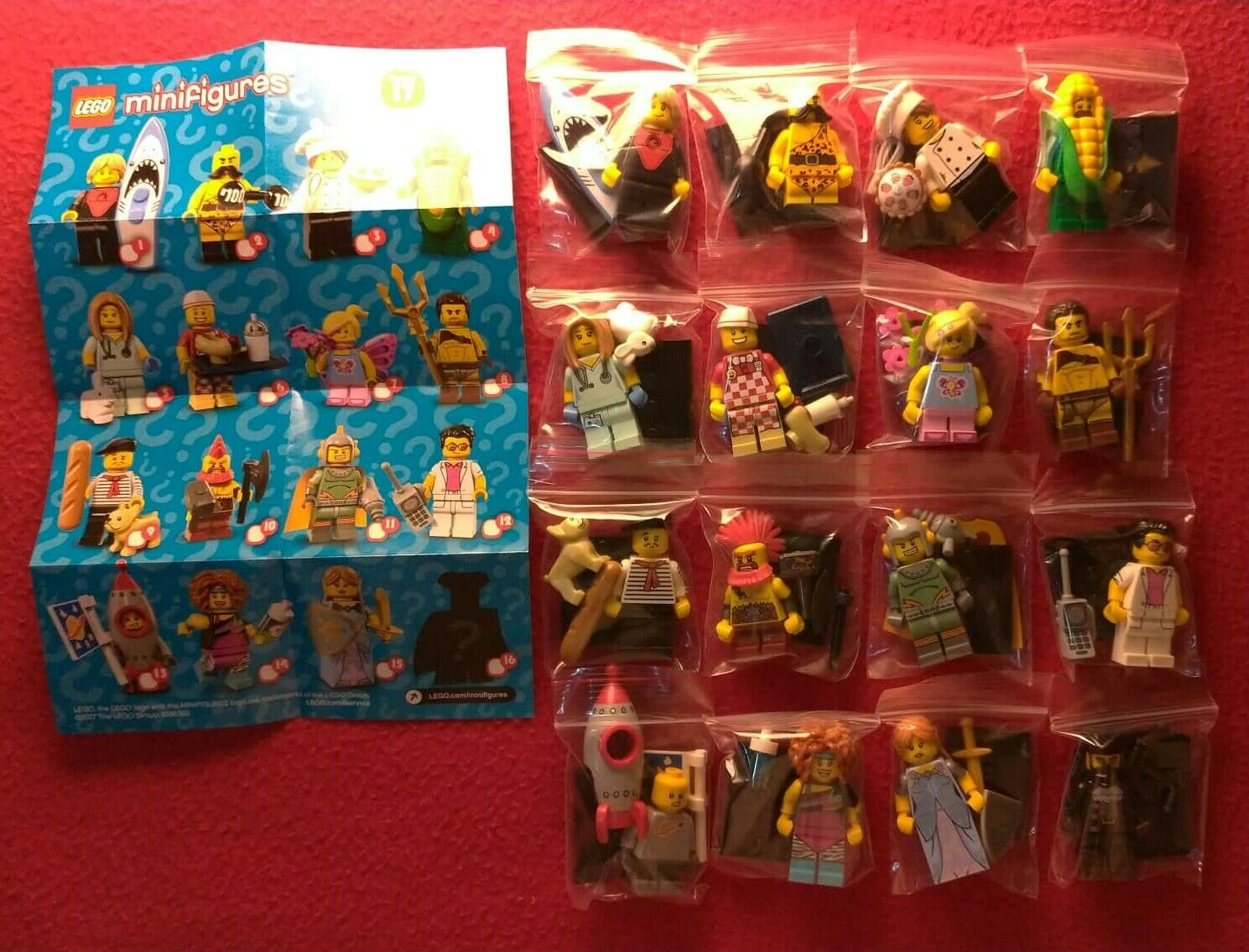 Lego Minifigures Series 17 Full Complete Set - 71018 - New