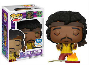Jimi Hendrix Monterey 1967 Flaming Guitar POP! Rocks #53 Vinyl Figur Funko