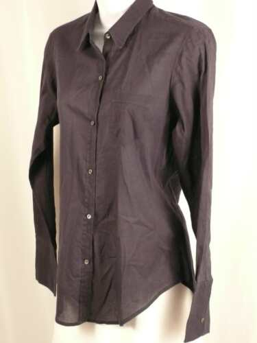 NILI LOTAN Women's Black Slub Cotton Long Sleeve B