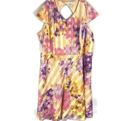 Isaac Mizrahi Watercolor Gingham Organza Dress A289651