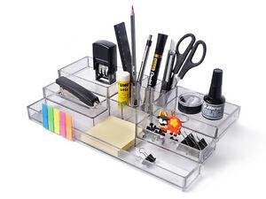 Aufbewahrungsbox Buro Ablage Organizer Ordnungssystem Acryl