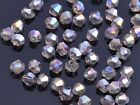 50pcs 6mm Bicone Faceted Crystal Glass Loose Spacer Beads Sliver Champagne AB