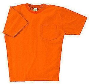 Mens Hi Visibility Pocket Tee Shirt S 6xl Tall