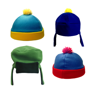 South Park Costume Hats Choose Your Character Fleece Ski Cap Cartoon TV