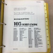 Komatsu 105 3 105 1 Series Engines Service Shop Repair Manual 4 Amp 6 Cyl Diesel