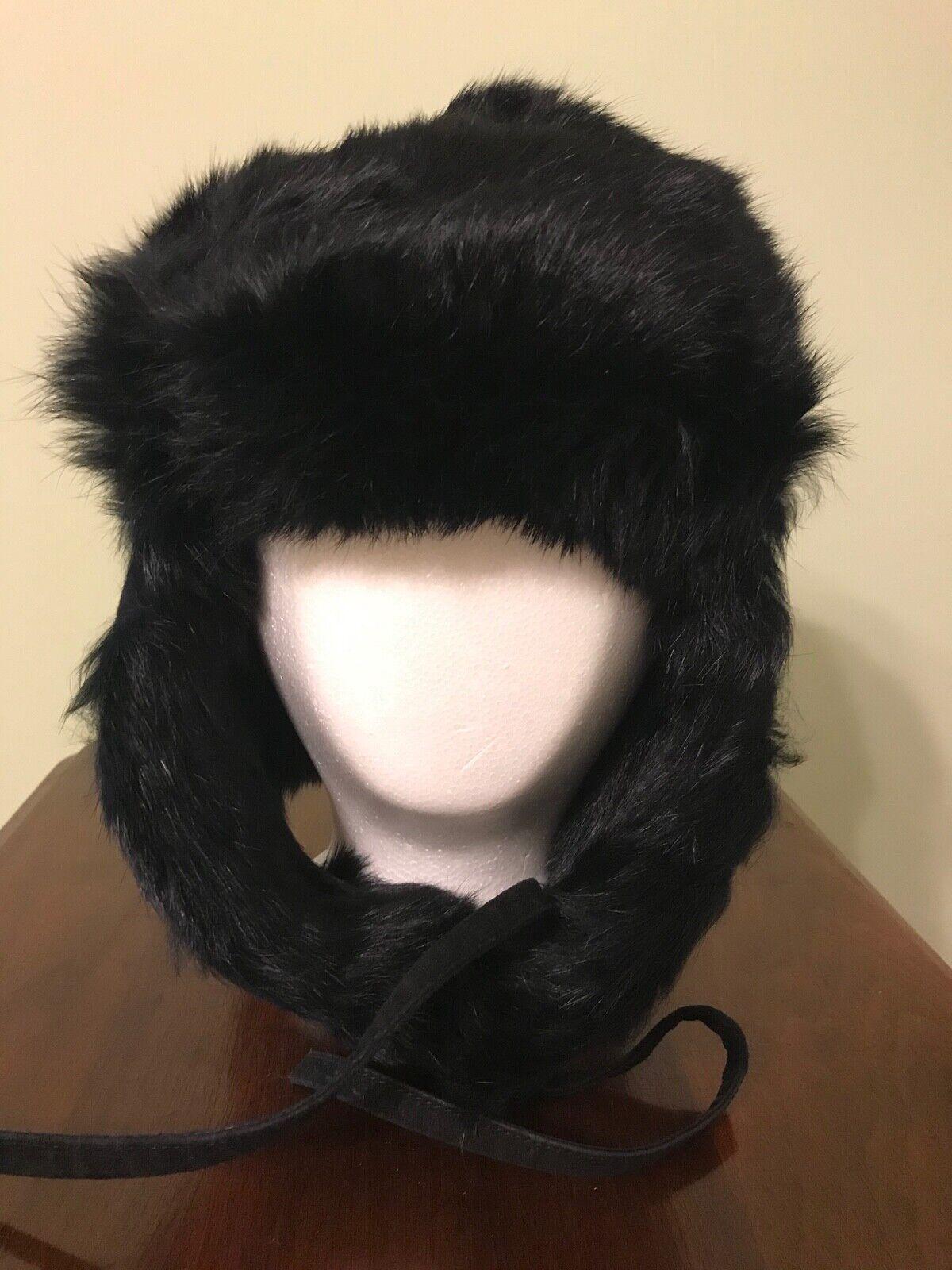 Vintage Black Mink Ladies' Hat with Flap Ear Muffs - image 5