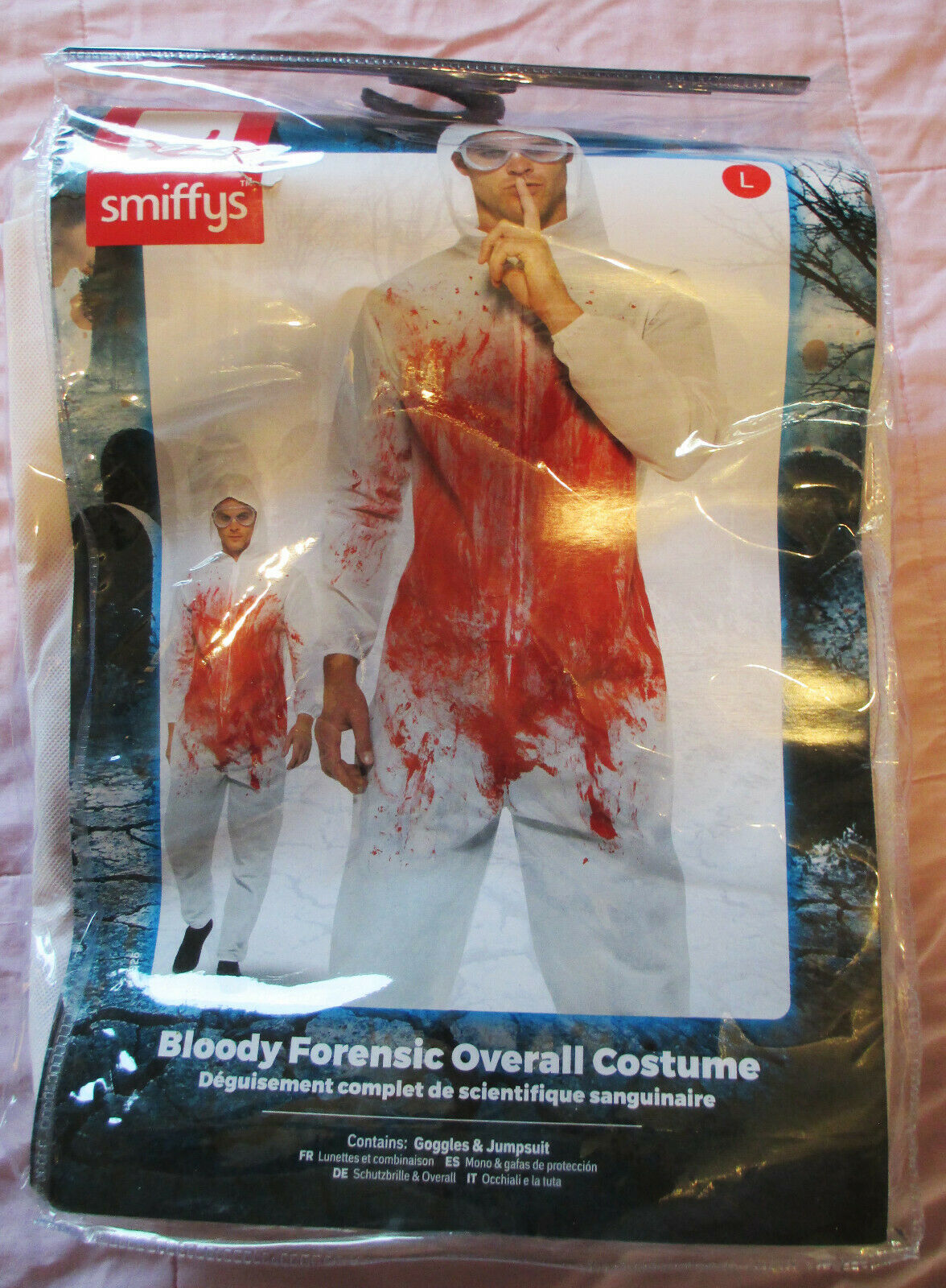 Smiffy's 'Bloody Forensic Overall Costume' Halloween Cosplay Horror goggles