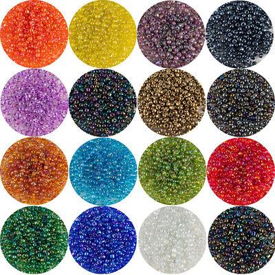 Rocailles Perlen 2mm Glasperlen Hell Grün 450g Schmuck Basteln Seed Beads A61
