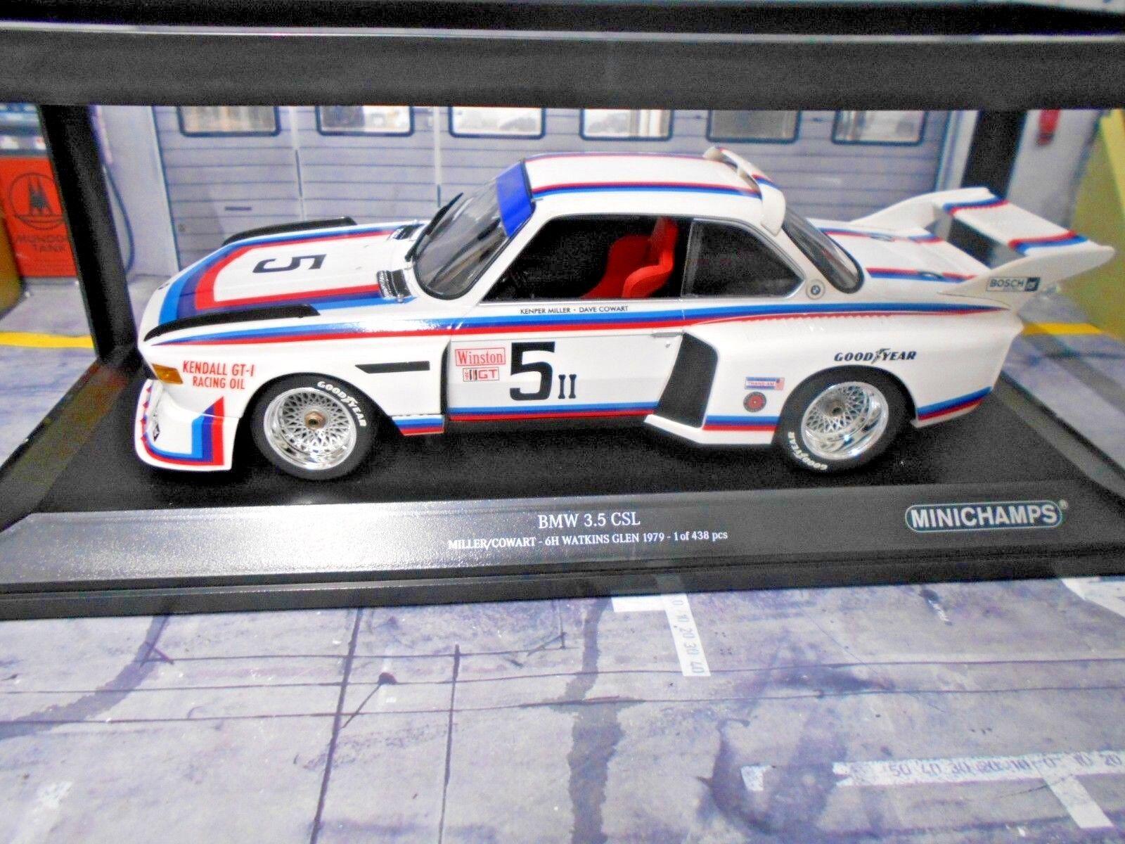 BMW 3.5 CSL 6 H H H Watkins Glen  5 Miller Cowart Kendall 1979 Nouveau MINICHAMPS 1 18 76f57d
