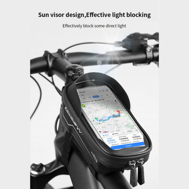 Basket Front Tube Pouch Bicycle Frame Pannier Cycling Bags Mobile Phone Holder