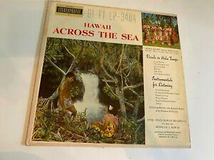 Rare Hawaiian LP- Hawaii Across the Sea 9th State Hawaii Record # 3404 Tiki