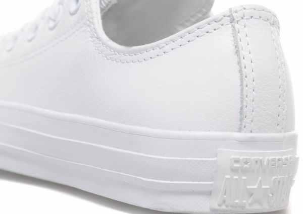 Converse Allstars Lo weiß/weißes Leder 7,8, UK Größen 3,4, 5,6, 7,8, Leder 9,10, 11 9accb1