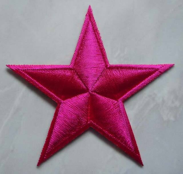 NAUTICAL STAR PINK SYMBOL US NAVY Embroidered Iron on Patch Free Postage