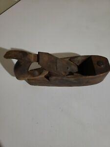 Vintage wood plane DR BARTON & Co Blade Wooden Handled Plane tool antique!