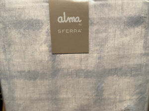 Alma by Sferra King Duvet Set Hiro Snow Celestial Cotton Percale Italy New