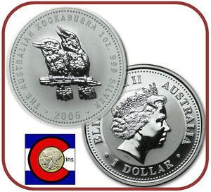 1998 Australia Kookaburra 1 oz BU direct from Perth Mint roll Silver Coin
