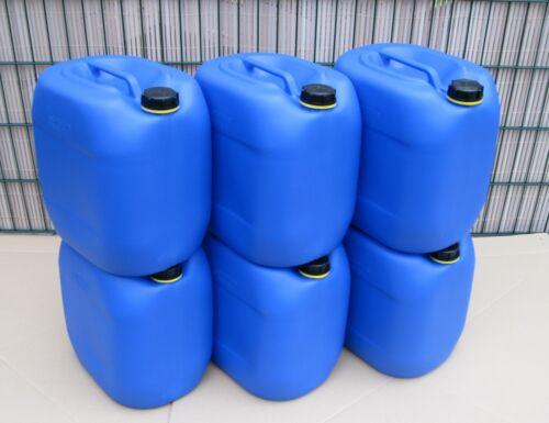 6 x 30 L Kanister Behälter dicht lebensmittelecht Trinkwasserkanister Outdoor