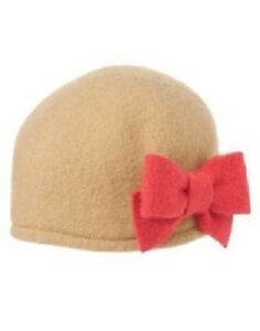 Gymboree-Purrfectly-Fabulous-Tan-Hat-with-Pink-Bow-Size-4-NEW