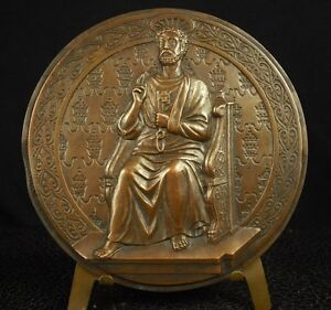 Medal-103-mm-Mantis-Religious-Saint-Pierre-Kephas-by-the-of-Tricard-Medal