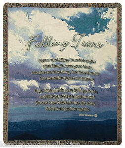 "50"" X 60"" Throw Blanket Bereavement Rich And Magnificent Falling Tears Tapestry Throw Throws"