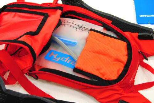 Red Shimano Unzen 2 Trail Daypack with 2 Liter Hydration Bladder