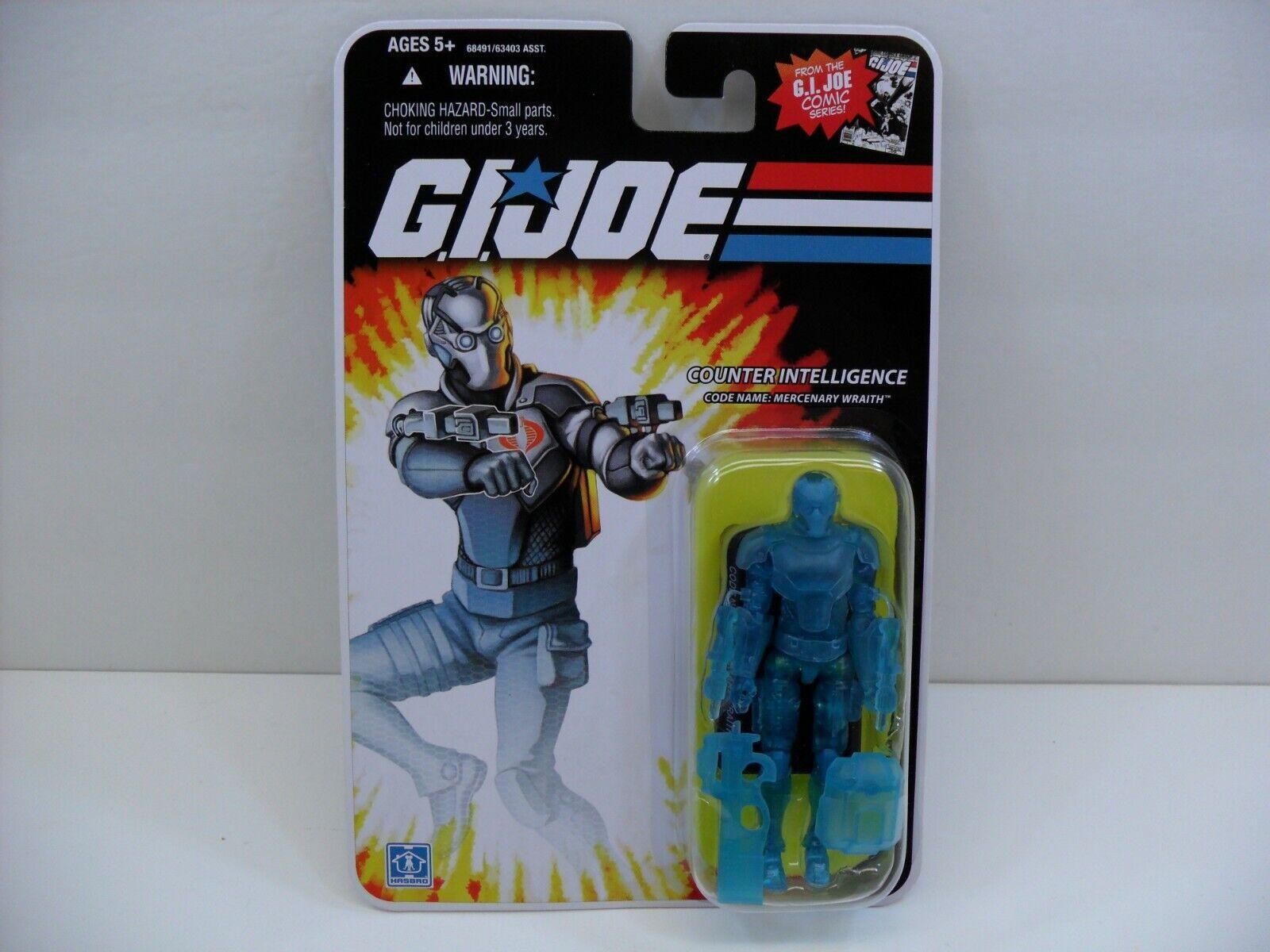 2008 Hasbro  GIJOE 25th  Mercenary Wraith  Clear Variant Chase Figure - Mint  sortie de vente pas cher en ligne