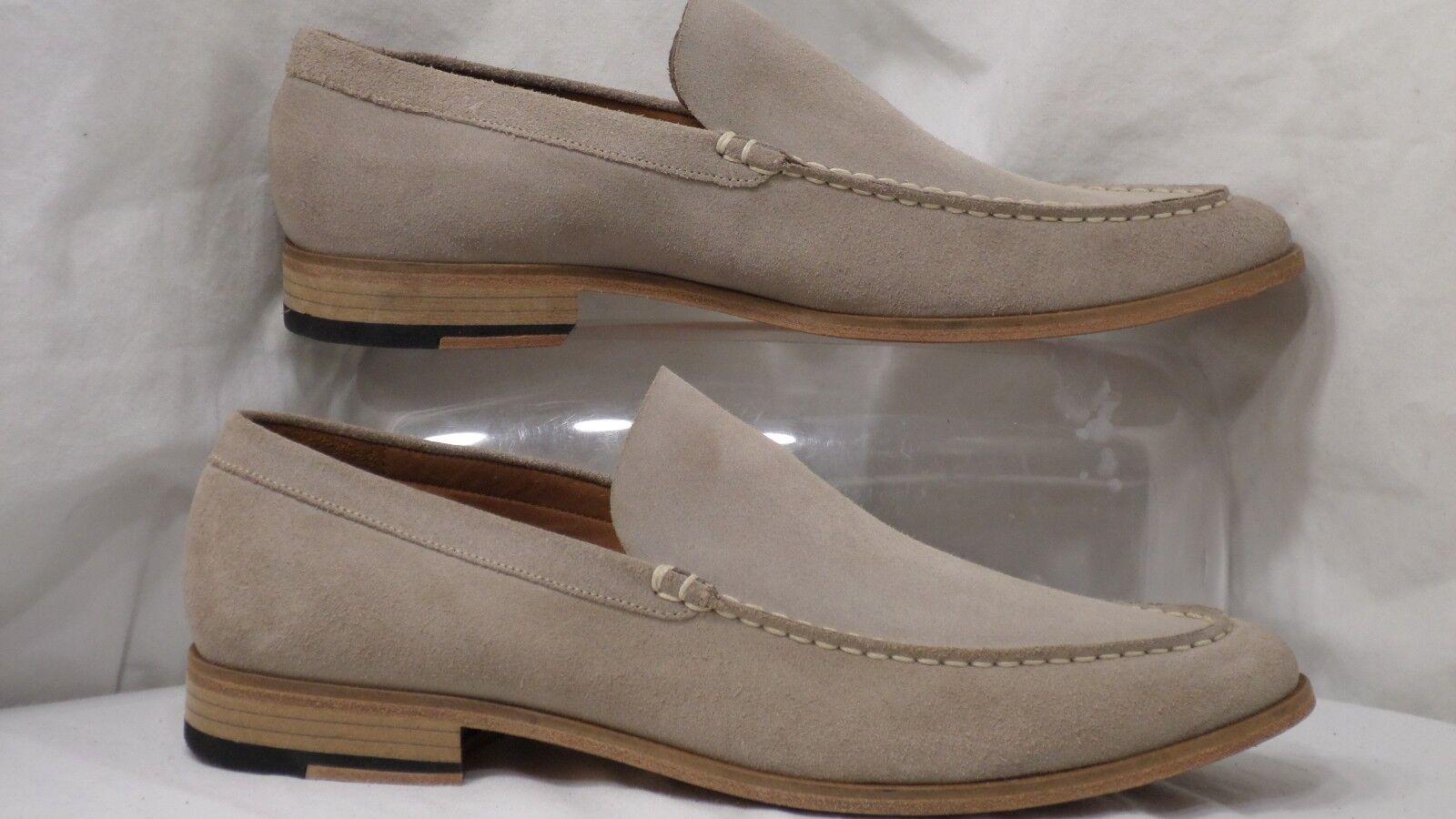 Gordon Rush 'Ashford' Beige Suede Moc-Toe Slip-On Loafer Men Size 11 M
