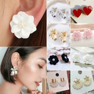 Fashion-Womens-Boho-Flower-Drop-Dangle-Earrings-Ear-Stud-Charm-Jewellery-Gift