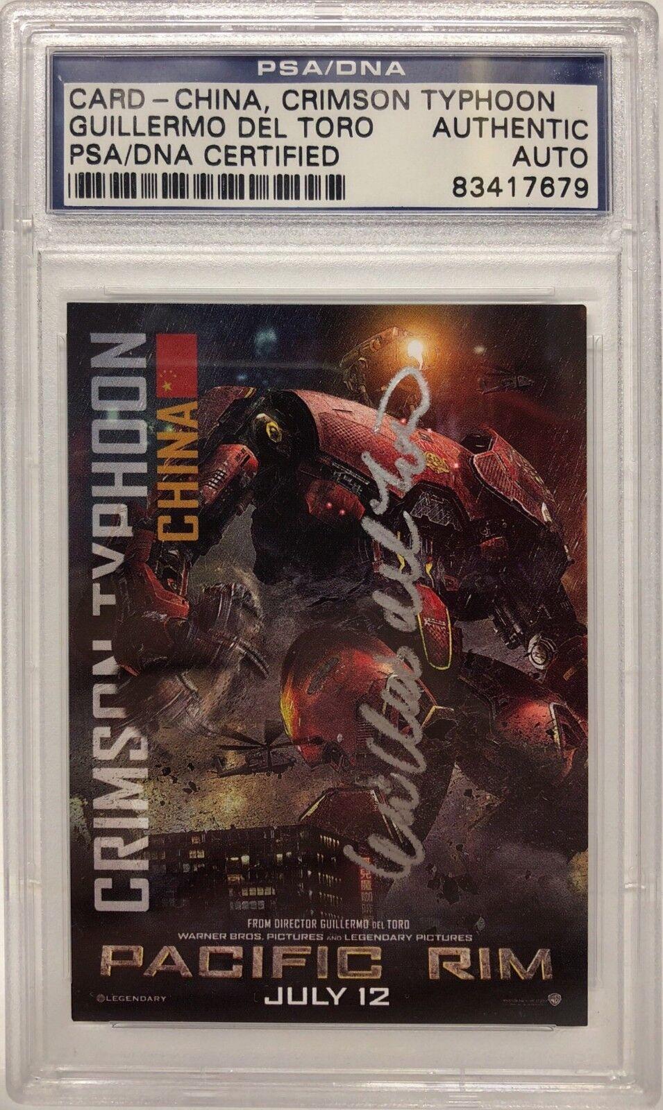 Guillermo Del Toro Signed Pacific Rim China, Crimson Typhoon Card Slabbed PSA