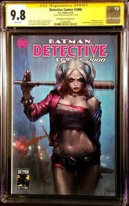 DETECTIVE-COMICS-1000-CGC-SS-9-8-JEEHYUNG-LEE-VARIANT-BATMAN-JOKER-HARLEY-QUINN